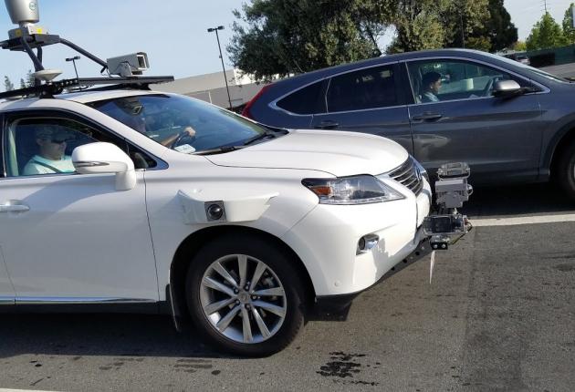 Беспилотник Apple замечен на дорогах