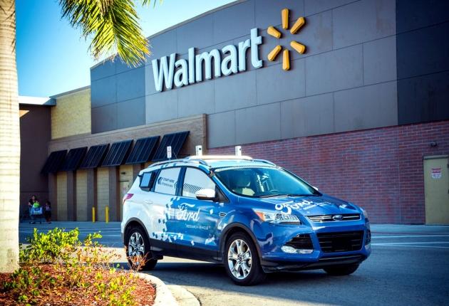 Беспилотники Ford будут осуществлять доставку из супермаркетов Walmart