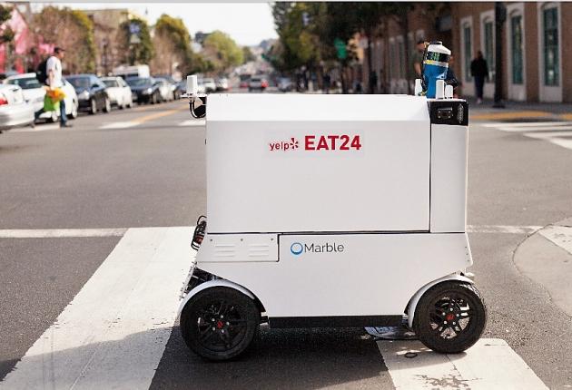 Роботы доставляют еду