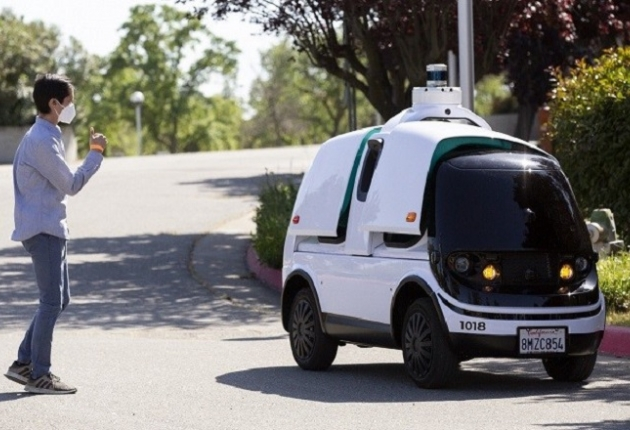 Беспилотные авто помогают бороться с коронавирусом
