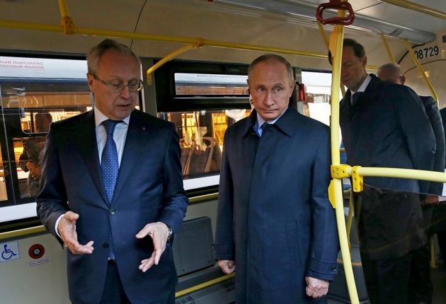 El-Panda, электробус КАМАЗ, «Тролза» представили президенту