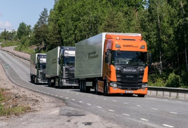 Scania испытывает беспилотники